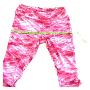 JOCKEY XL Under knee ruching pink leggings jog run